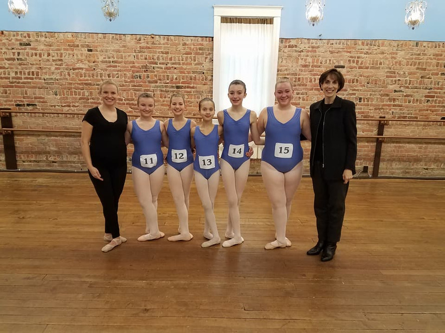 AIM Ballet ABT 2B Students at their Ballet Exam