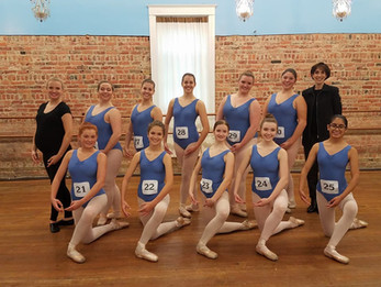 AIM Ballet ABT 3B Students at their Ballet Exam