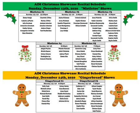 AIM Christmas 2020 Recital Schedule B.PN