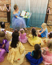Cinderella reading to our little princes