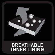 Oddychający materiał wewnątrz