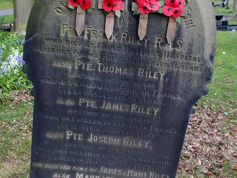 WW1 Headstone/Grave Data Base