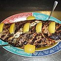 Char-broiled whole snapper