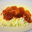 Rice with tomato sauce