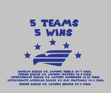 5 Teams...5 Wins!