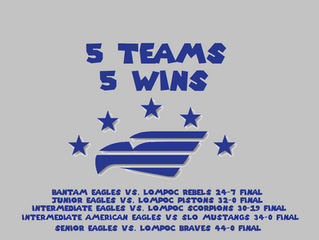 5 Teams...5 Wins!