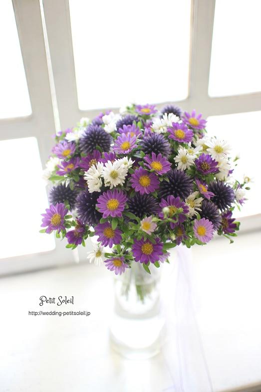 175.紫小花のクラッチブーケ