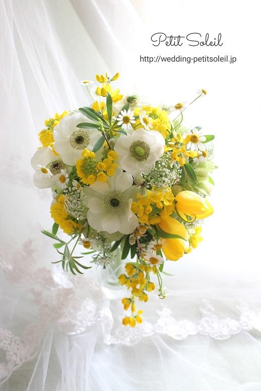 279.黄色と白のティアドロップ
