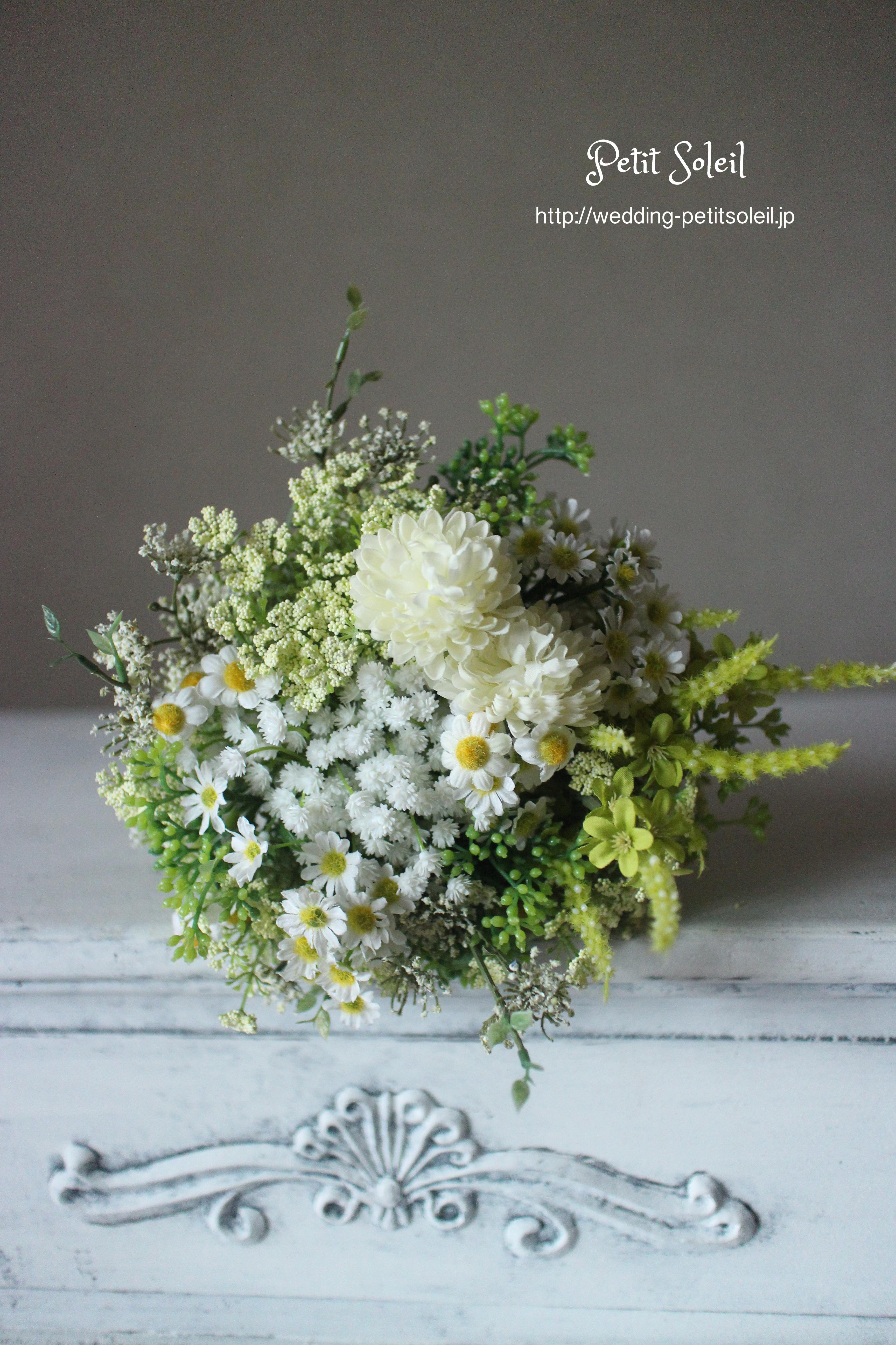 101.野の花のクラッチブーケ(造花)