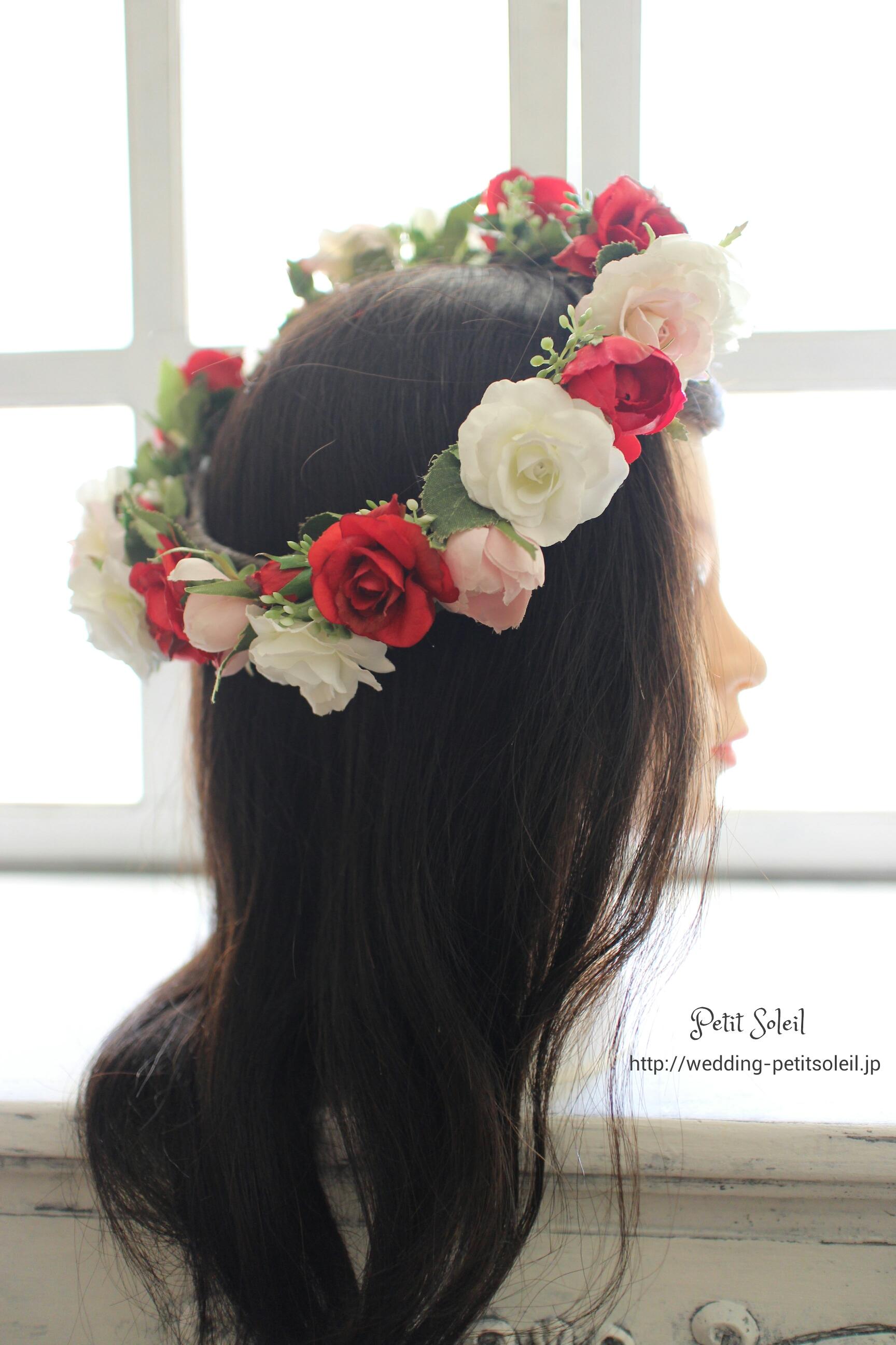 バラの花冠・造花