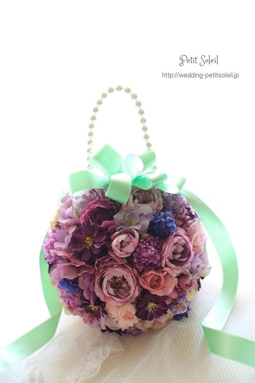 148.造花のボールブーケ