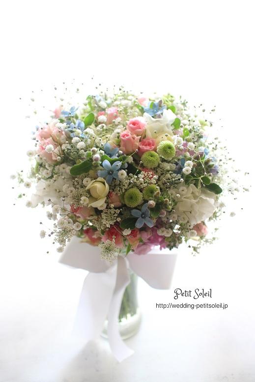 132.小花のミックスカラーブーケ