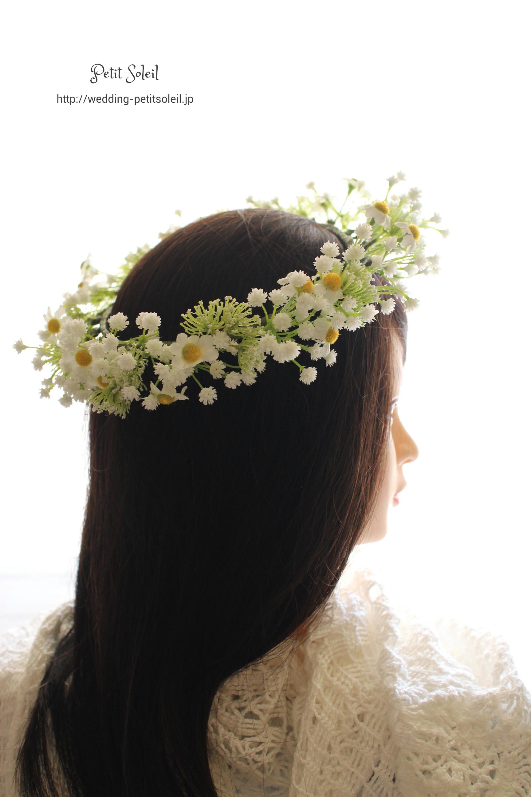 野の花風冠・造花