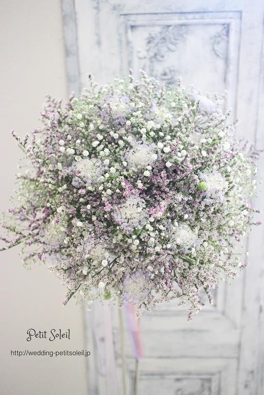 290.紫と白の小花ブーケ