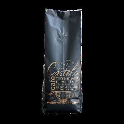 CAFÉ MONTE CASTELO TORRA MÉDIA 500g/Grãos