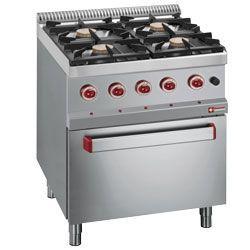 Diamond gasfornuis met 4 branders en elektrische oven