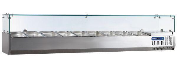 Glazen opzetkoelvitrine GN 1/3 - Diamond