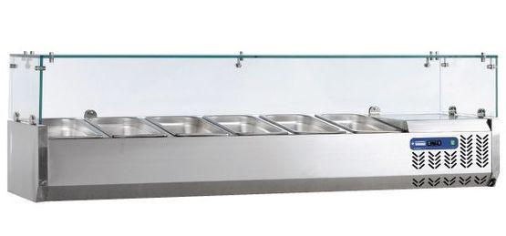 Glazen opzetkoelvitrine GN 1/4 - Diamond