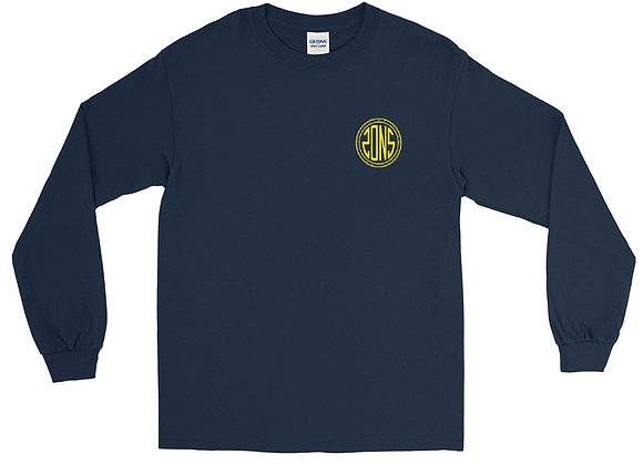 Sons Long Sleeve Shirt - Navy/Yellow