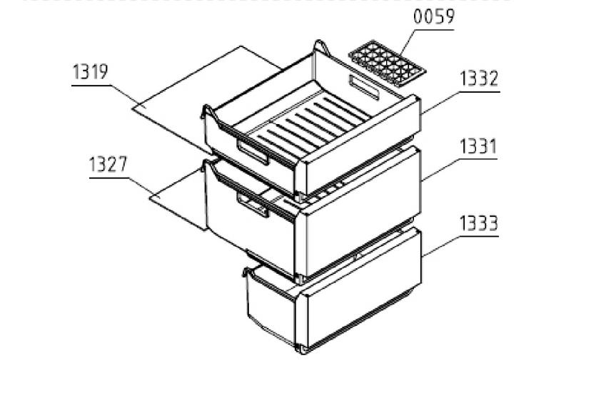EcoSolarCool ESCR355GE Middle Freezer Drawer