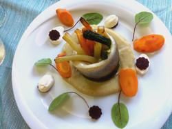 Turbante di Branzino con verdurine  | Ristornate Gold Hotel Bordighera