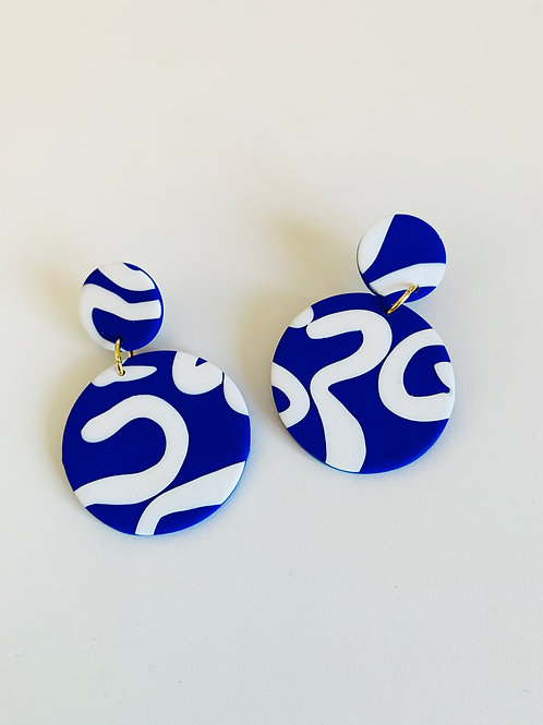 Octopussy - Large Earring (Cobalt)