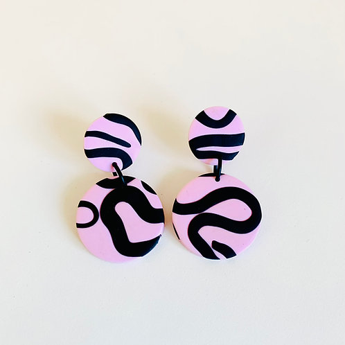 Octopussy - Medium  Earring (Pink)