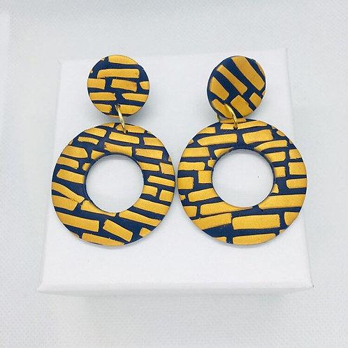 Helsinki Winter - Large Earring