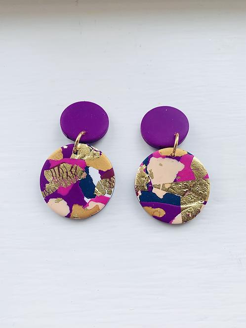 Winter Sunrise - Medium Violet Earring