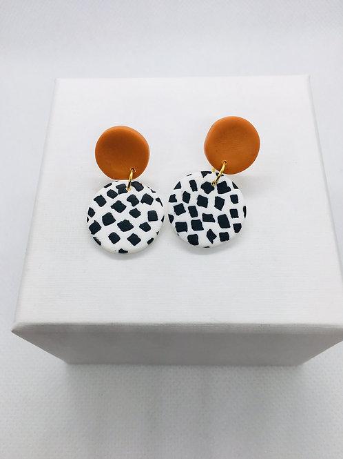 Go Dotty - Mini Earring (Orange Stud)
