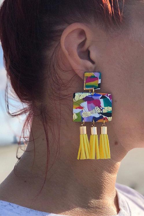 80s Large Tassel Earring