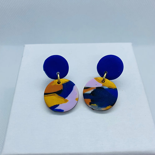Sunburnt Country Landscape - Mini Earring (Blue)