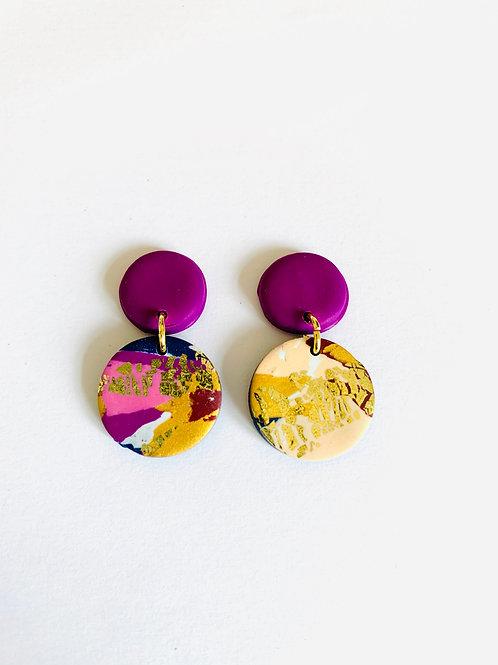 Winter Sunrise - Mini Violet Earring