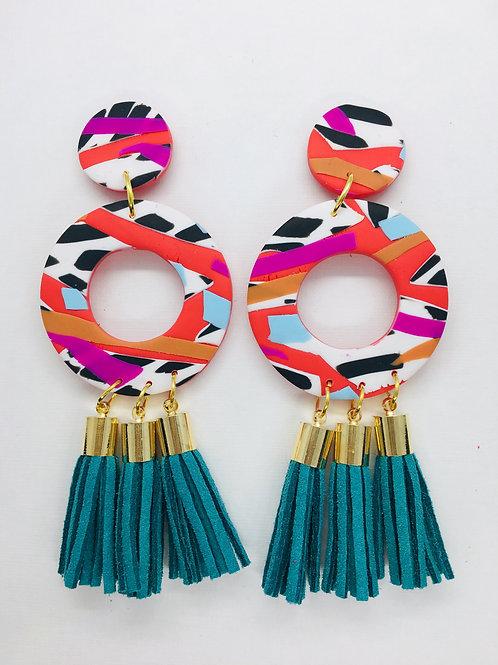 Cruella  - Large Tassel Earring