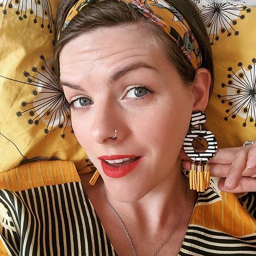 Helsinki - Large Tassel Earring