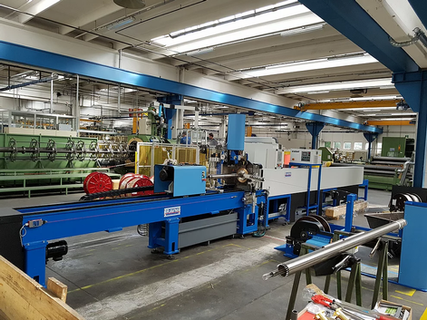 CYLINDRICAL AND FLAT PANEL FILTRATION WIRE WRAP MACHINES
