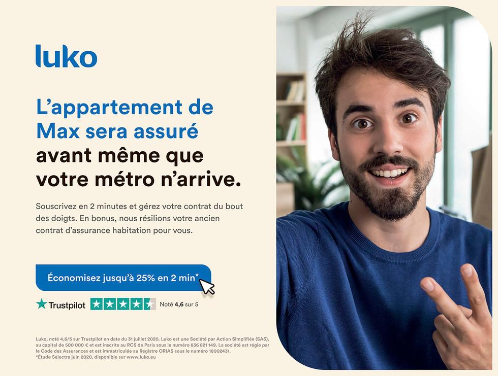 Affiche 4mX3m Metro - Luko Max