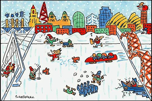 Original Winter Watercolor - 06