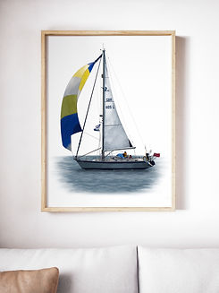 Digital illustration Boat Commission copy right