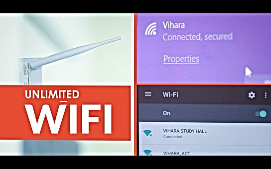 high speed wifi enabled study rooms