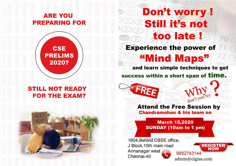Dear students this free session will be of immense help to the students who are preparing for civil services examination and going to appear in Prelims on 31st May 2020.🙂 https://www.cigias.com/upsc/