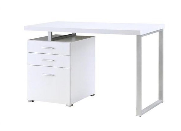 Hilliard Home Office Desk in White