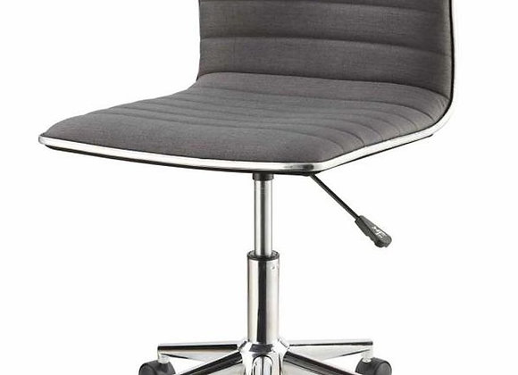 Adjustable Height Office Chair in Grey And Chrome