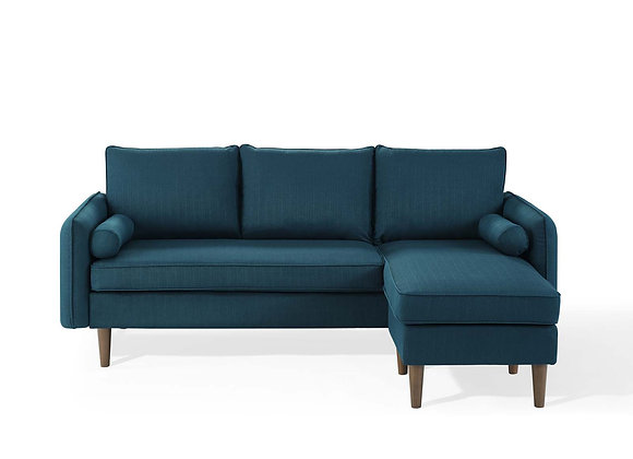 Revive Upholstered Right or Left Sectional Sofa in Azure