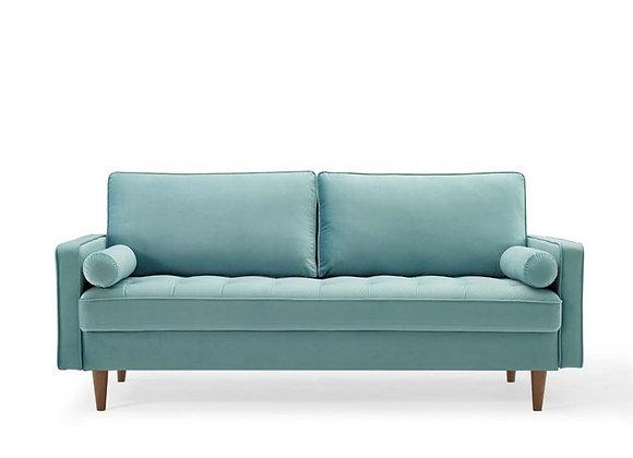Valour Performance Velvet Sofa in Mint