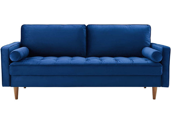 Valour Performance Velvet Sofa in Navy