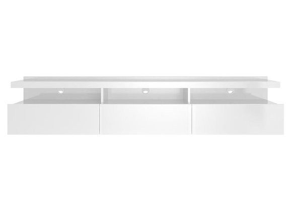 Cabrini Wall-Mounted TV Stand in White Gloss