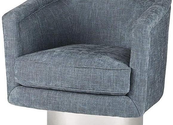 Bardot Swivel Lounge Chair in Blue