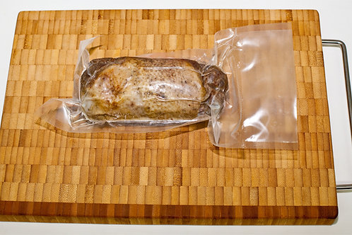 Мини рулет из мяса гуся копченый, вакуум 100 гр.
