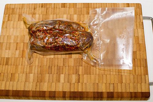 Мини рулет из мяса гуся копчёный в специях, 100 гр